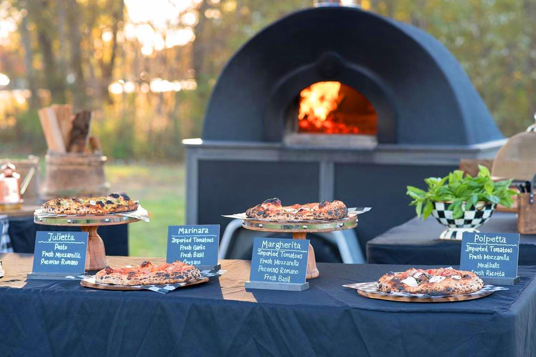 wood fired pizzas with mobile oven