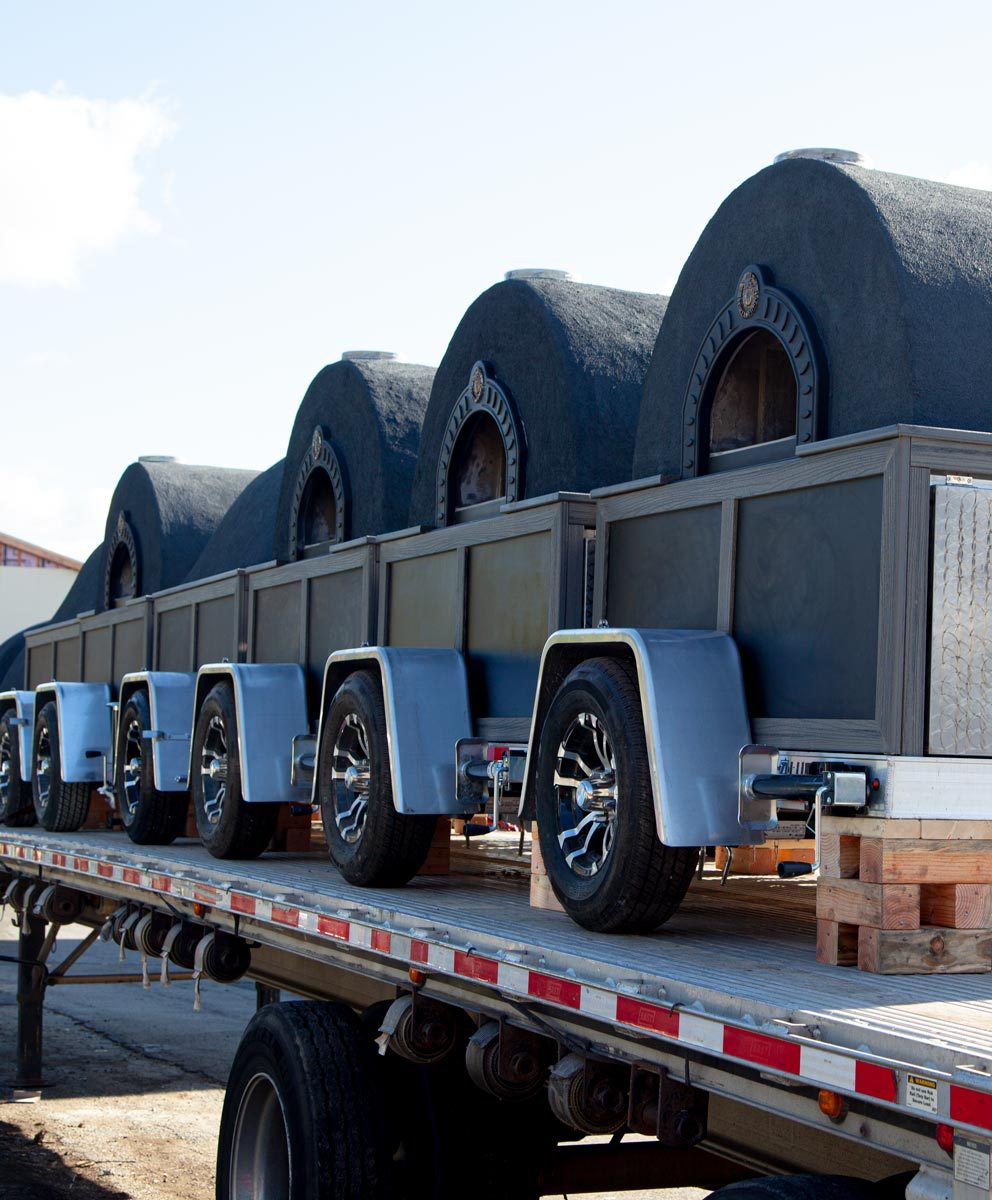 truckload of mobile ovens